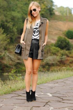 Mery Leather Shorts