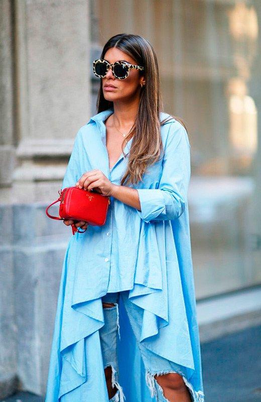 El estilo Dulceida en 100 looks camisa azul oversize