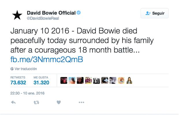 Twitter Oficial de David Bowie