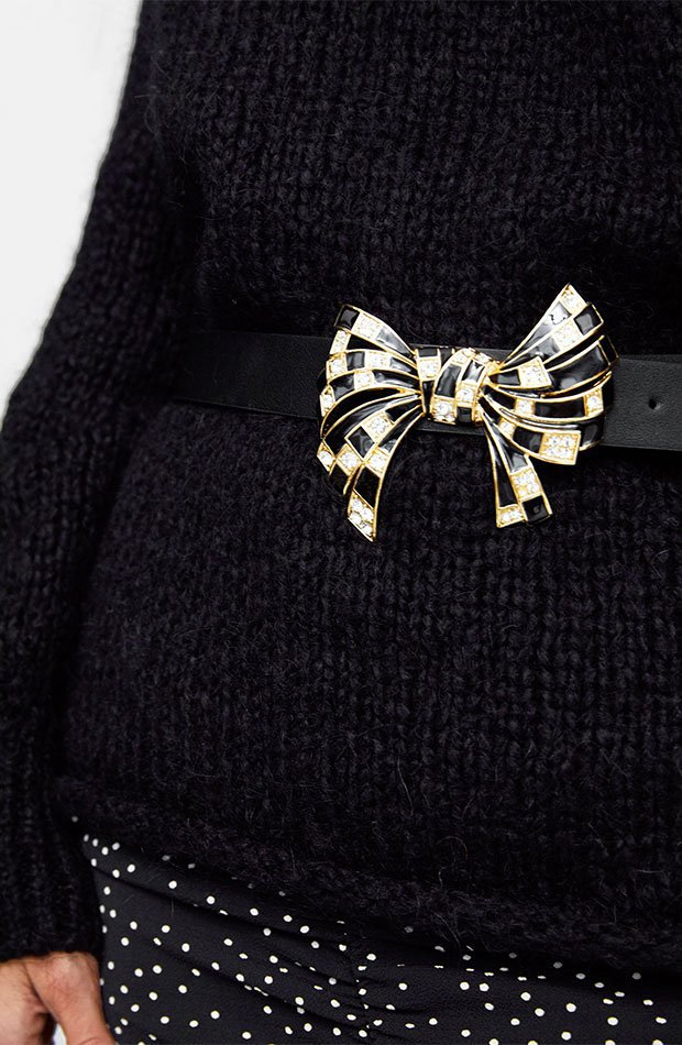 Cinturón con lazo de Dress Time de Zara