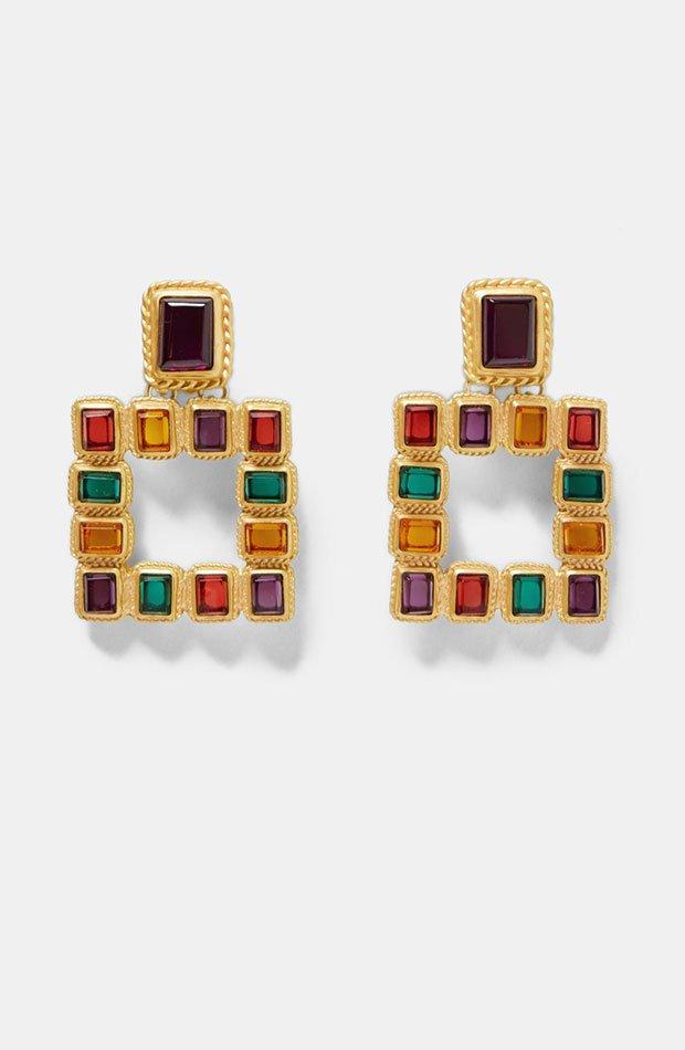 Pendientes colores de Dress Time de Zara