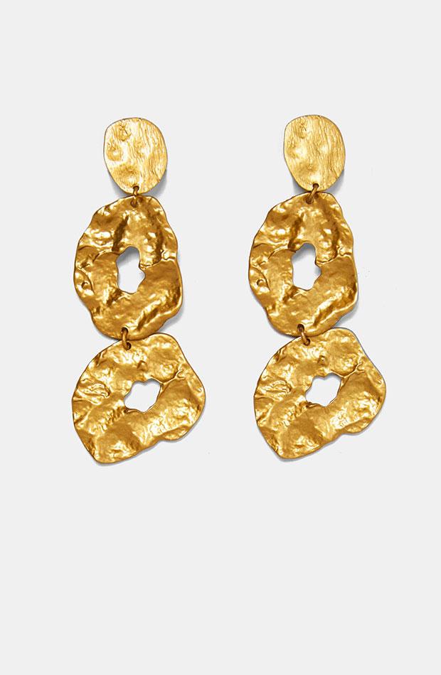 Pendientes dorados de Dress Time de Zara