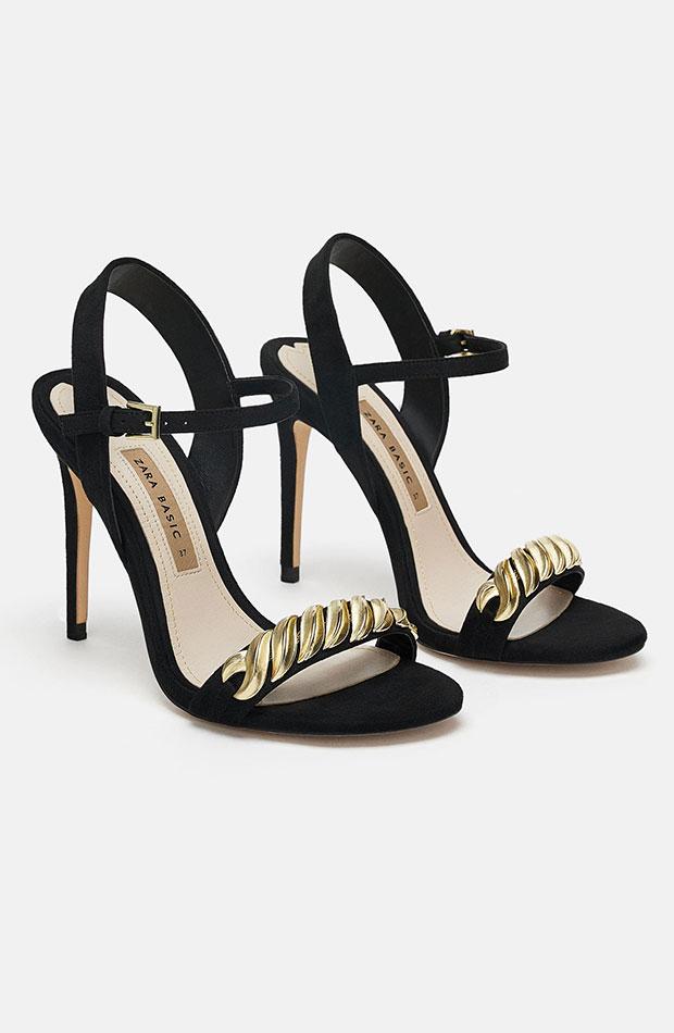 Sandalias negras de Dress Time de Zara