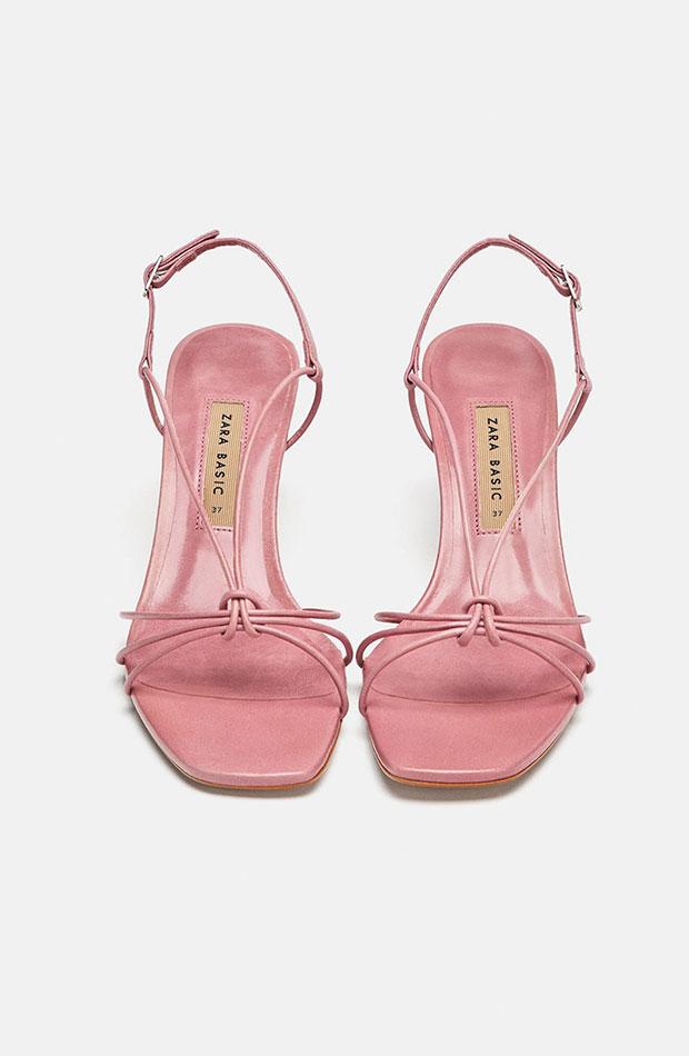 Sandalias rosas de Dress Time de Zara