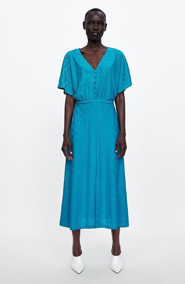 Vestido turquesa de Dress Time de Zara