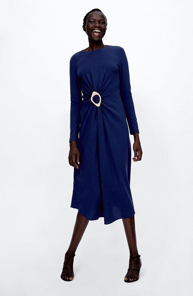 Vestido azul de Dress Time de Zara