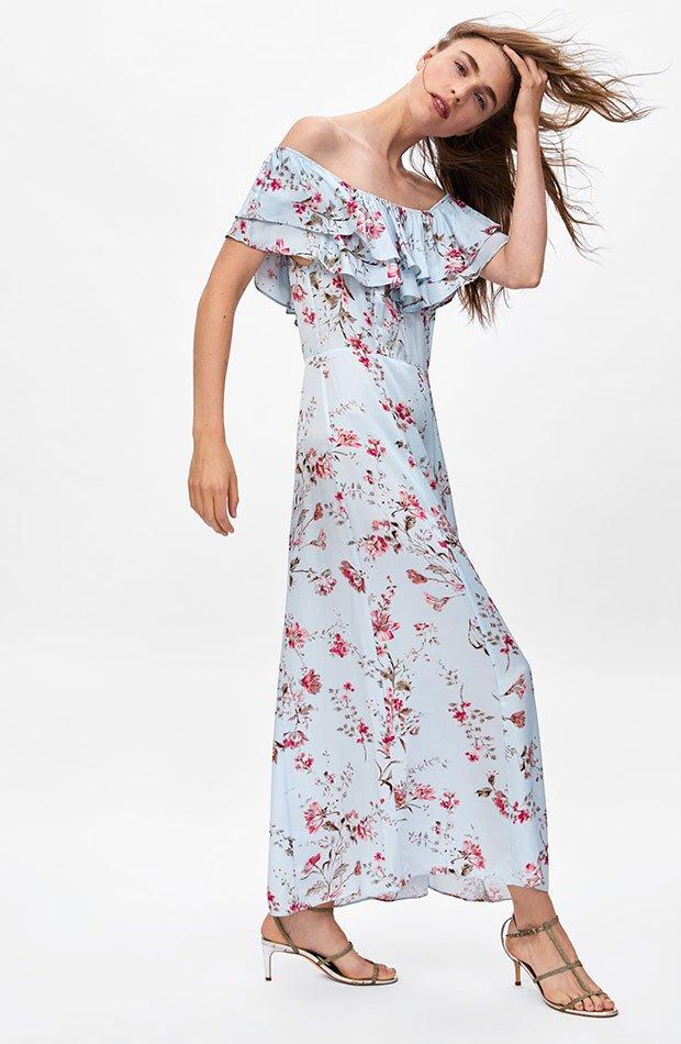 Vestido de flores de Dress Time de Zara