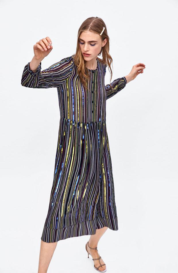 Vestido de lentejuelas de Dress Time de Zara