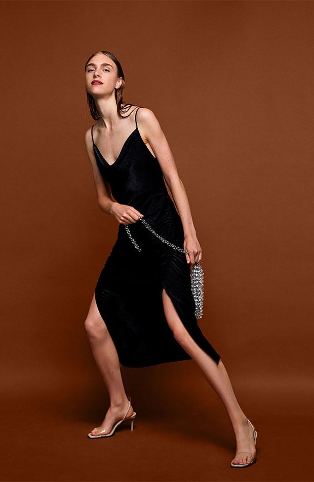 Vestido negro de Dress Time de Zara