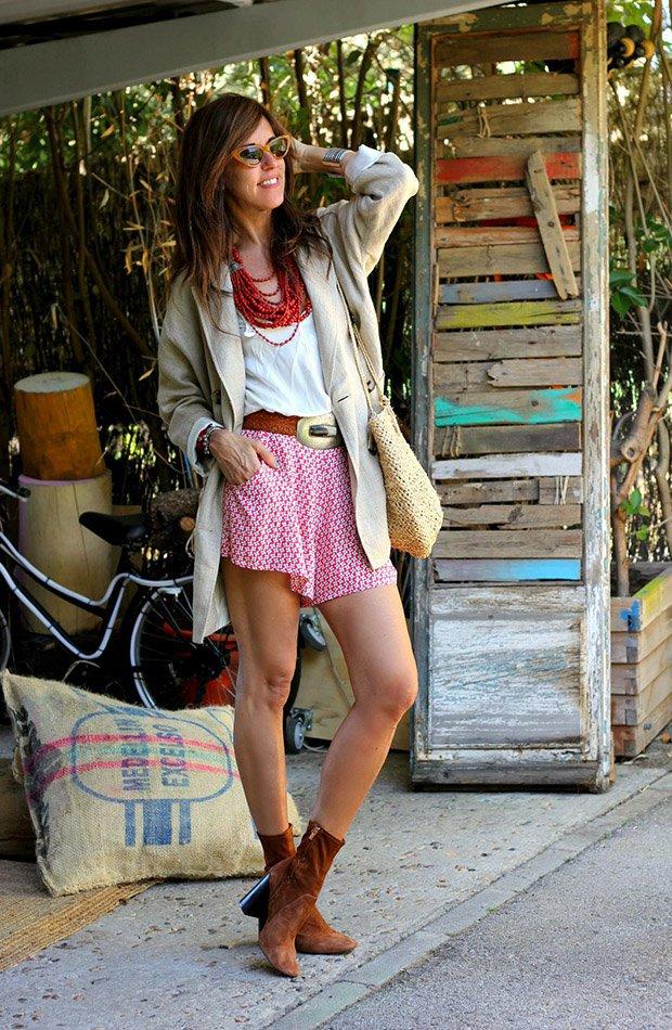 Mytenida con shorts estampados