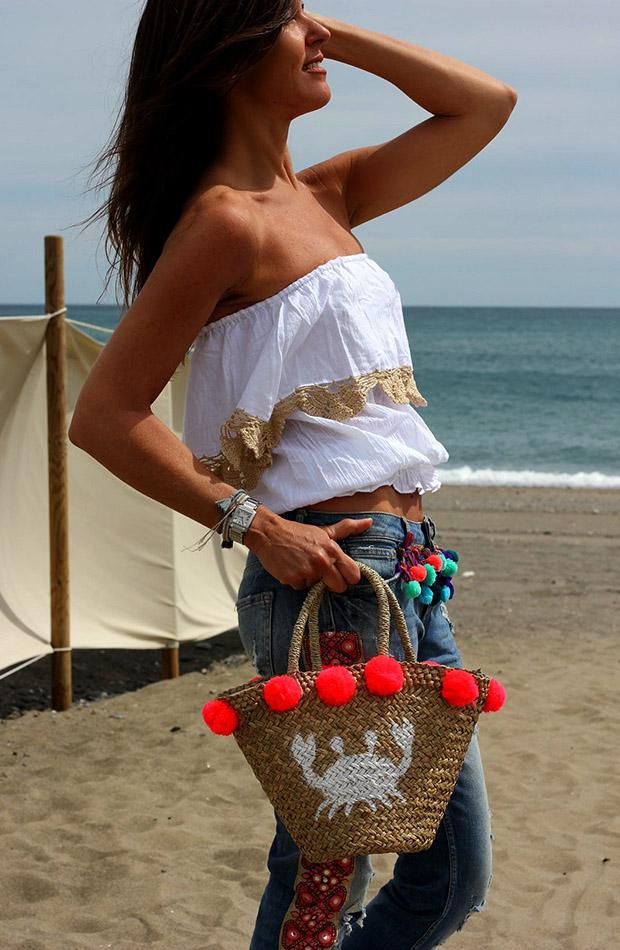 Mytenida en la playa