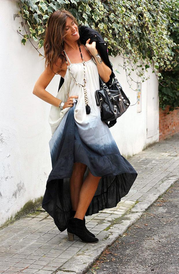 Mytenida con vestido largo