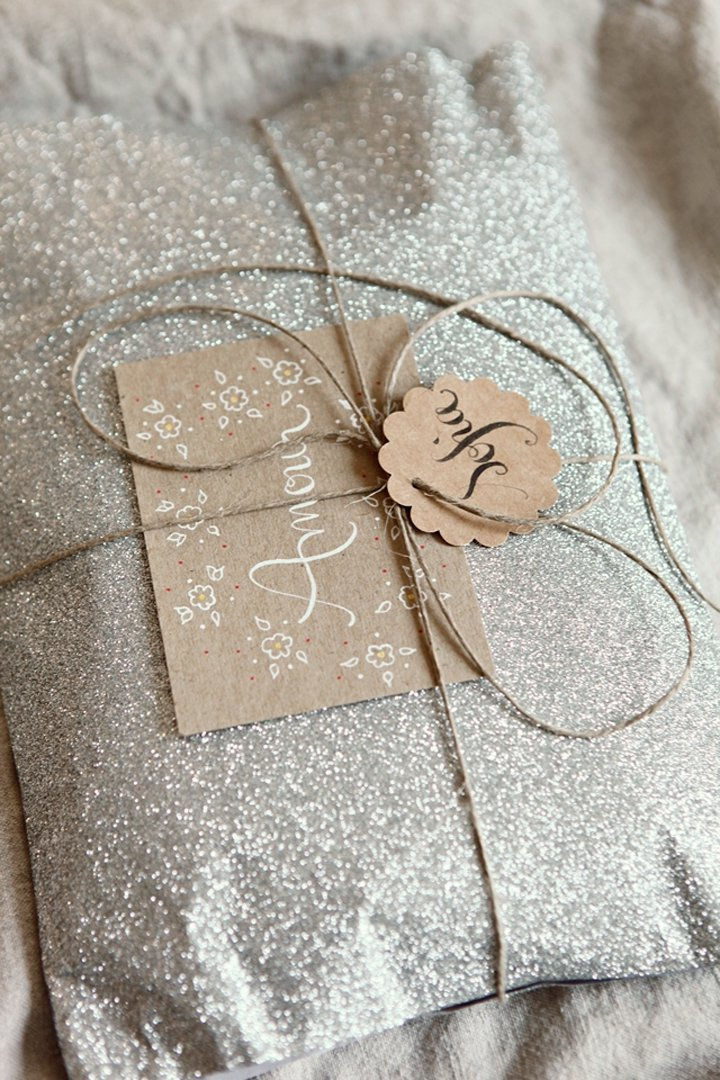 envoltorio de regalo brillantina