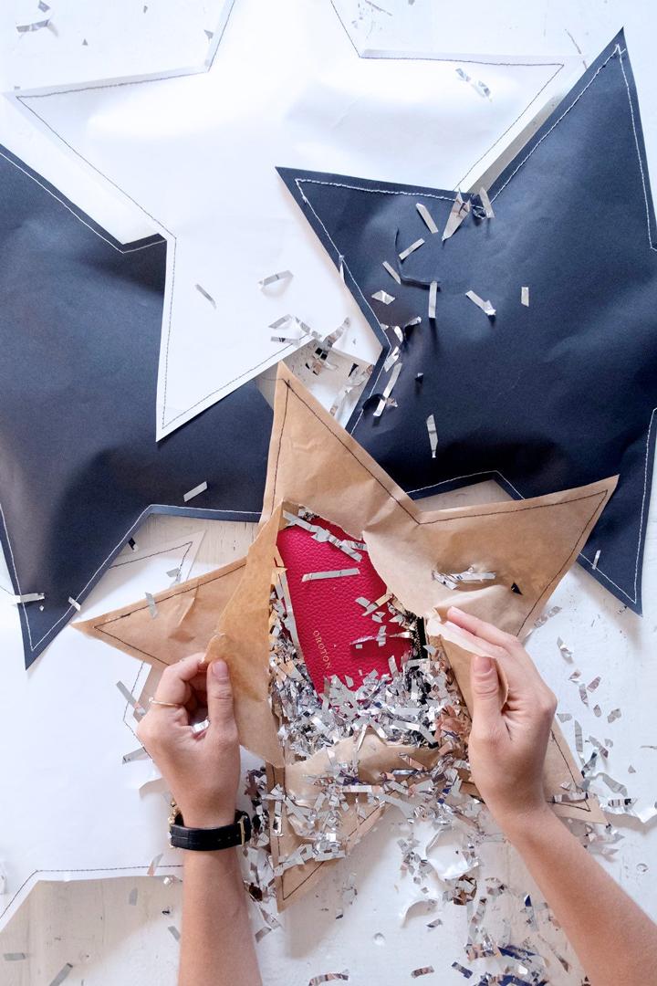 Envoltorio de regalos estrella