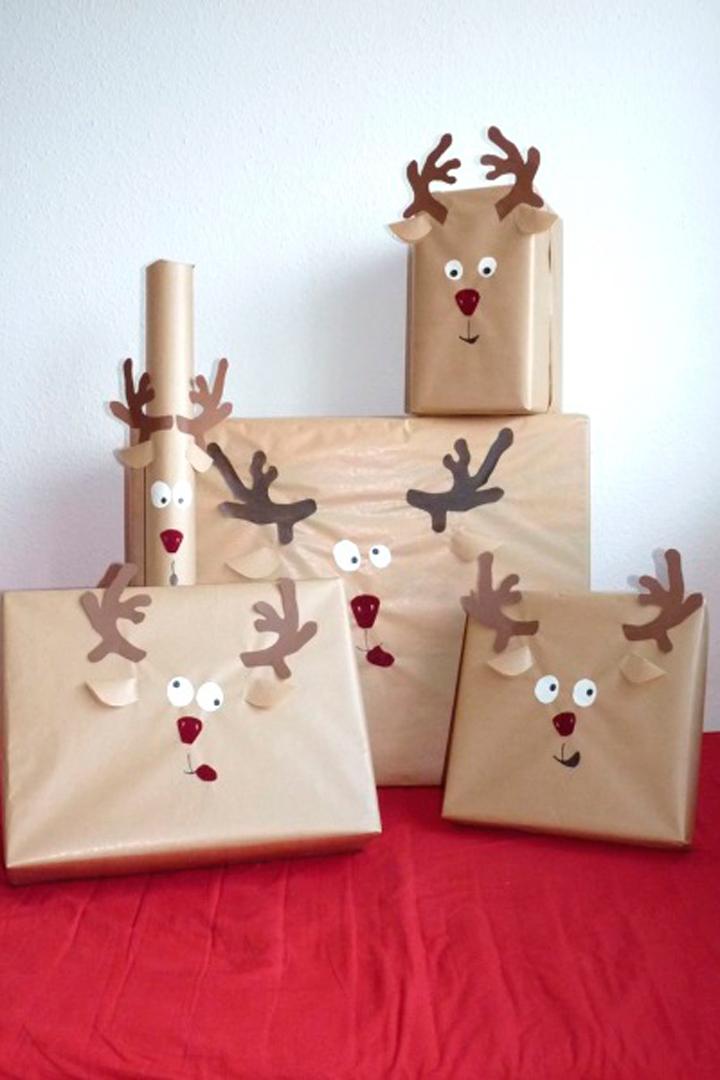 Envoltorio de regalo renos