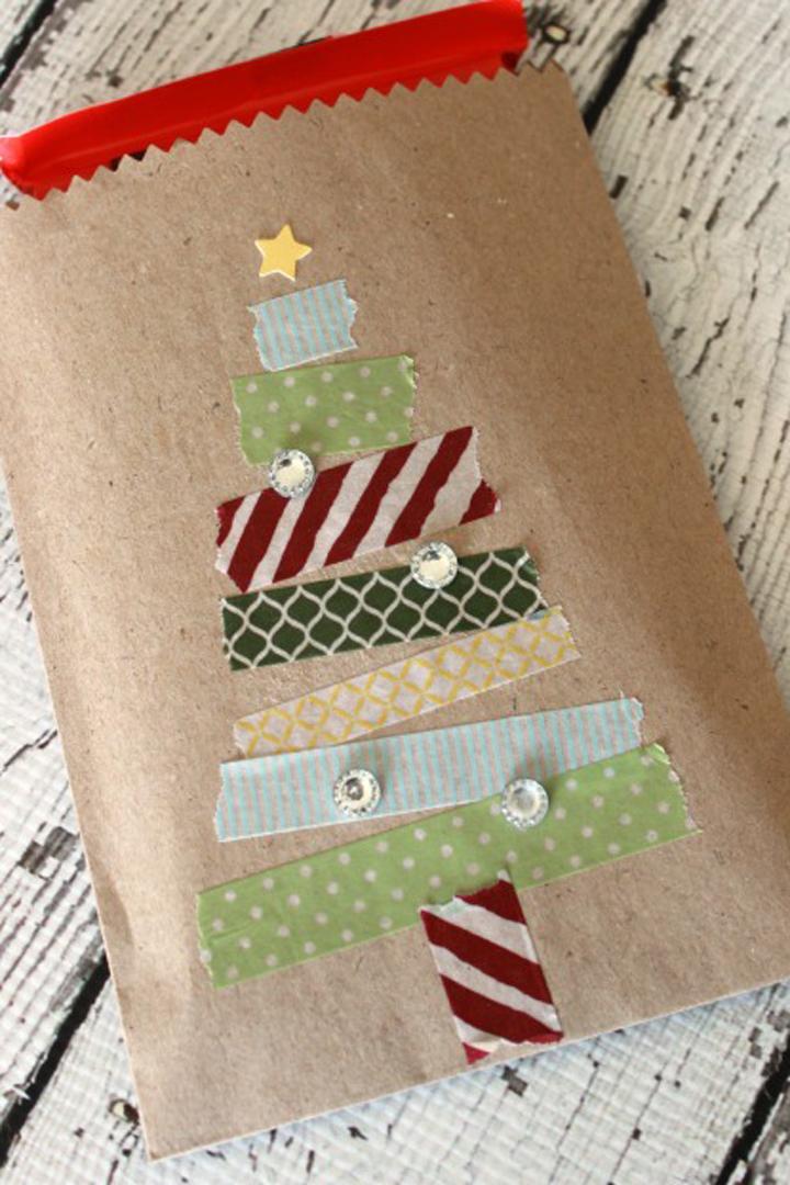 Envoltorio de regalo washi tape