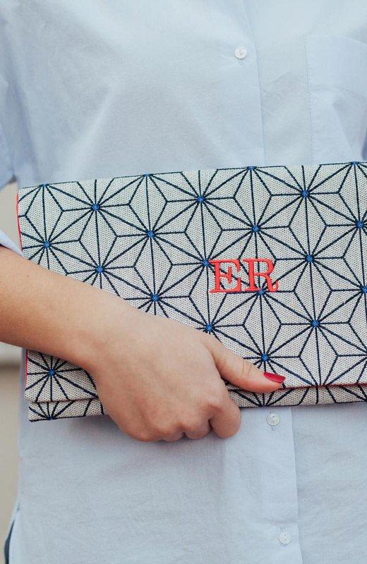Estela Rosso cartera geometrico iniciales