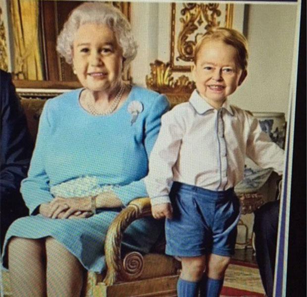 Face Swap a la reina y a su bisnieto