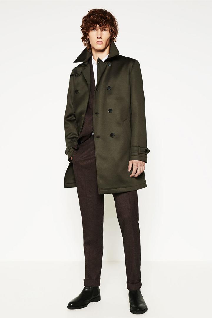 Gabardina Verde de Zara