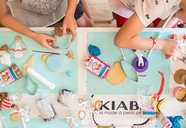 Taller de galletas en el evento de Kiabi