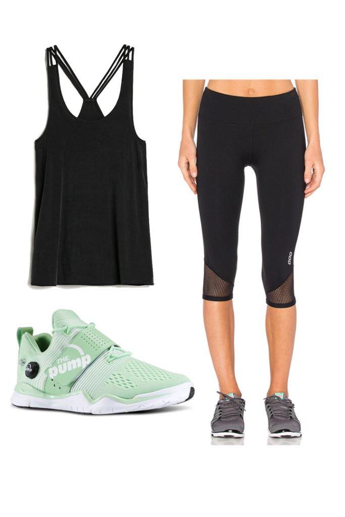 Looks para ir al gimnasio con leggings