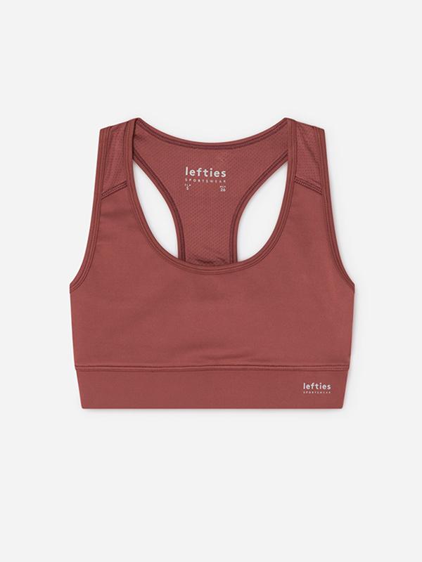 Sujetador teja de la colección Lefties Sportswear SS 2019