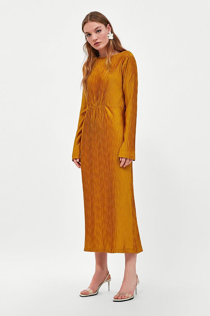 Looks de invitada de última hora: vestido amarillo