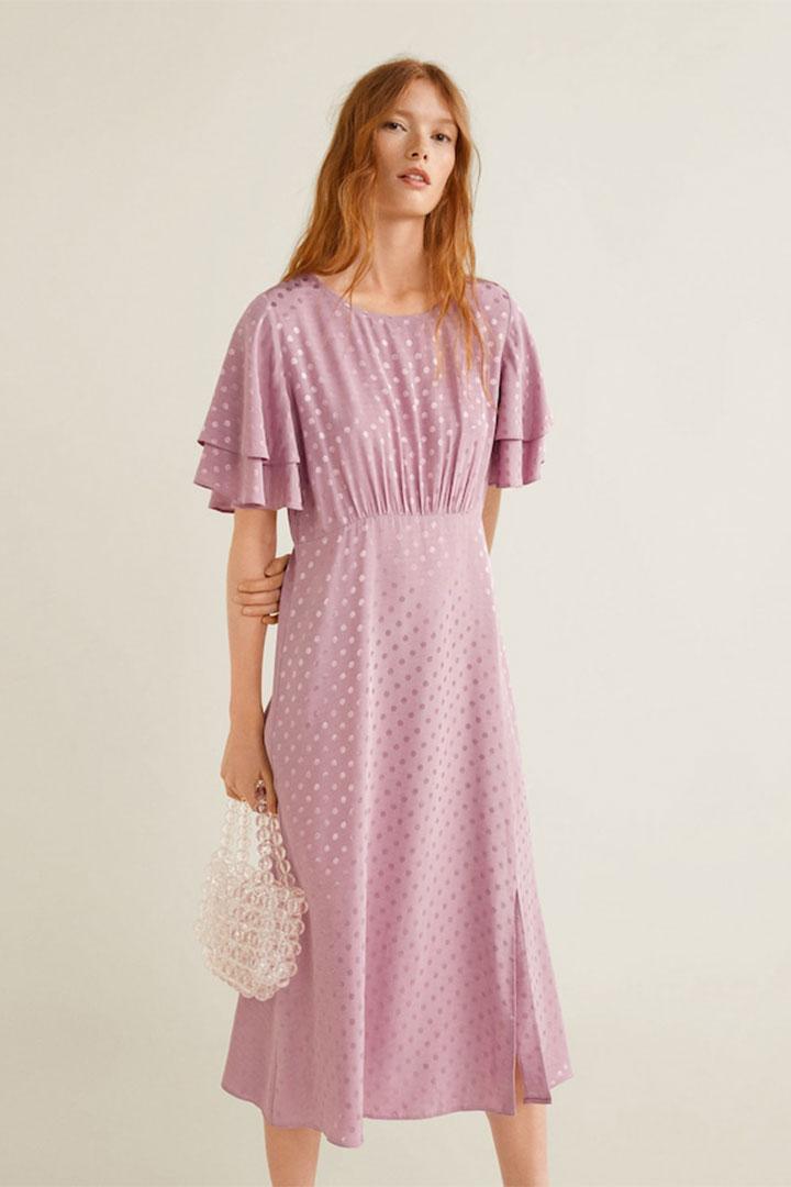 Looks de invitada de última hora: vestido lila
