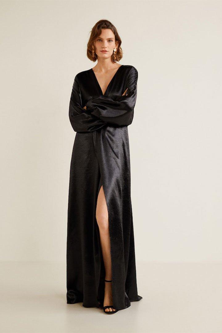 Looks de invitada de última hora: vestido negro
