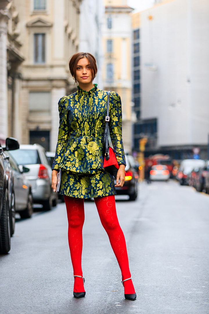 Estilo en el street style de Milan Fashion Week