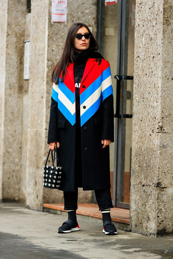 look sport en el street style de Milan Fashion Week
