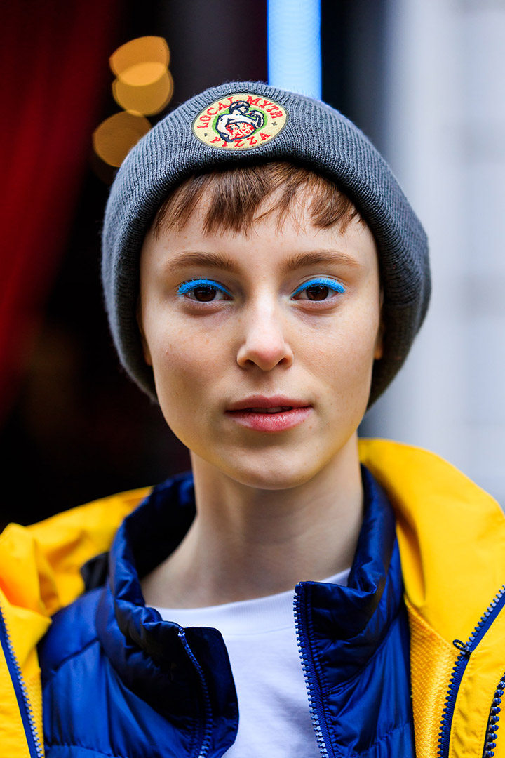 tendencias de belleza en el street style de Milan Fashion Week