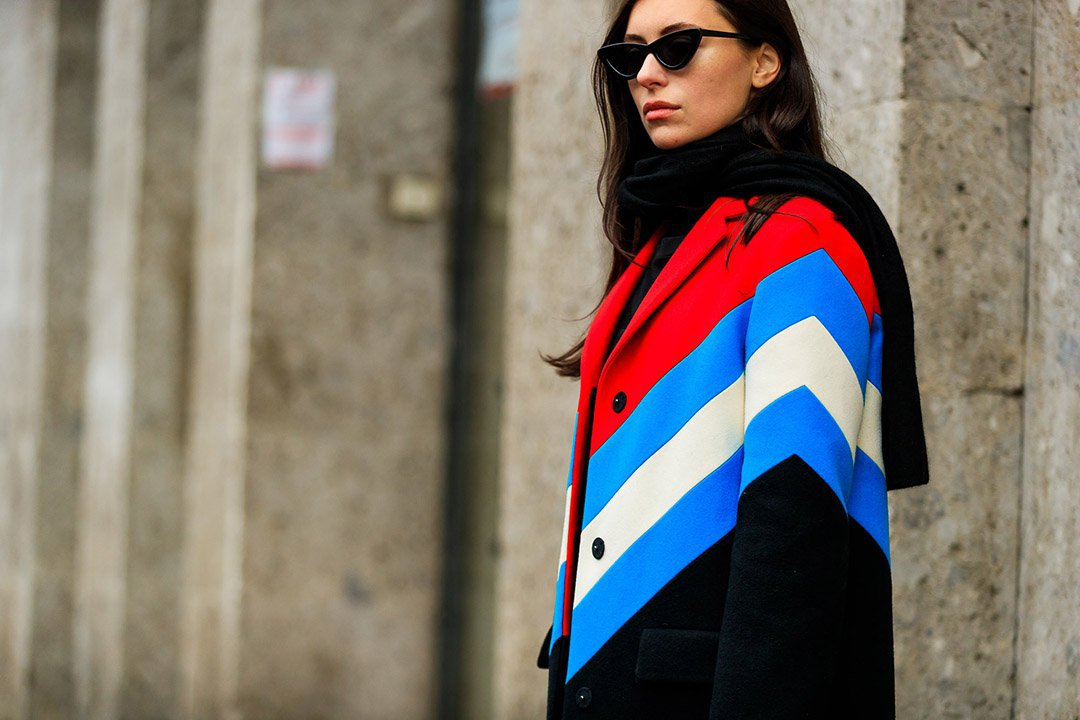 Sporty look en el street style de Milan Fashion Week