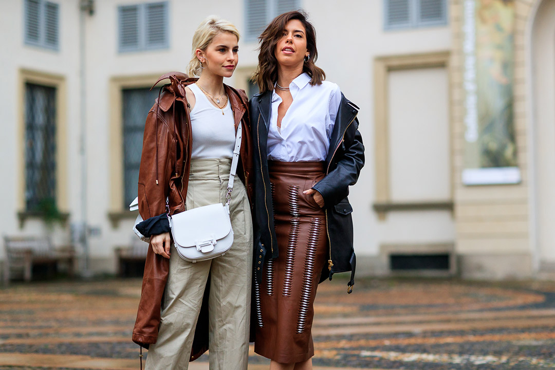 it girls en el street style de Milan Fashion Week