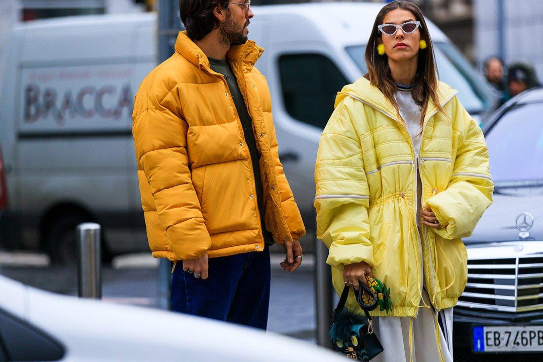 plimíferos en el street style de Milan Fashion Week