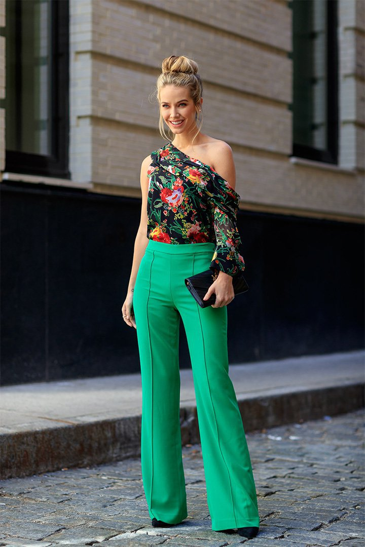 Look en verde en New York Fashion Week