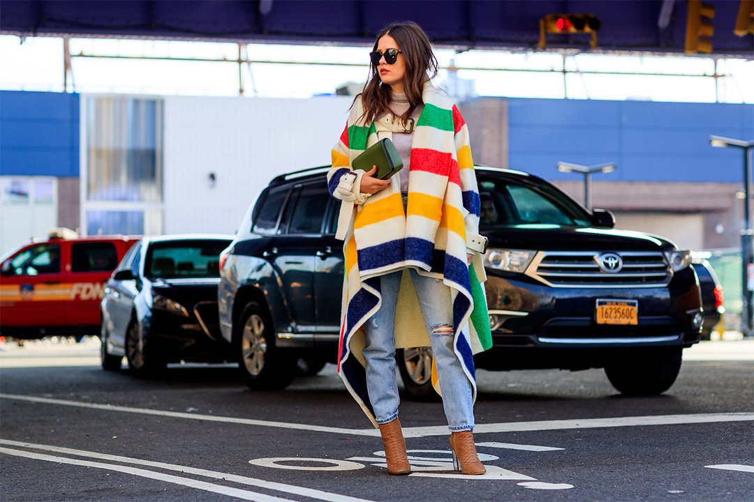 Look colorido en New York Fashion Week