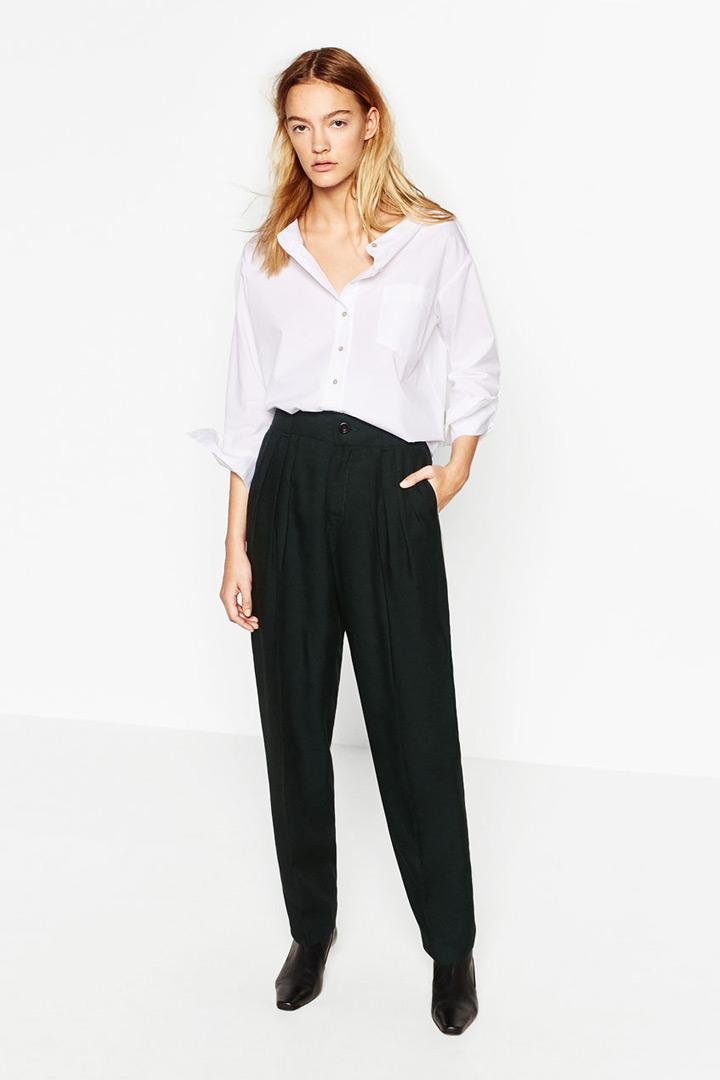 pantalones largos zara