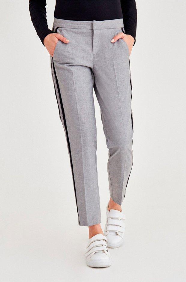 Pantalones masculinos con franja lateral