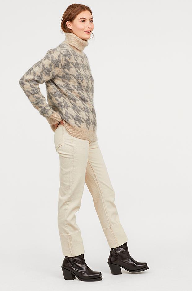 Pantalones rectos en blanco de H&M
