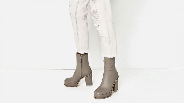 Botines de plataforma de Zara