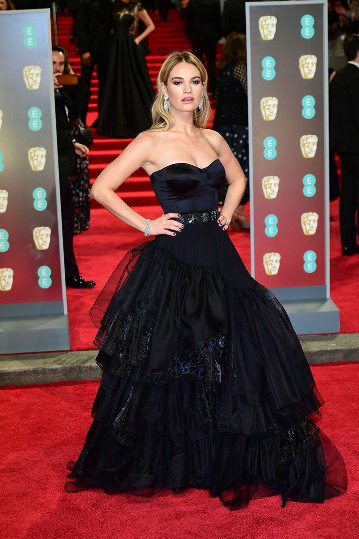 BAFTA 2018 Lily James