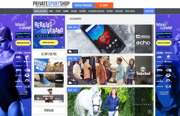 Webs de venta flash: Private Sport Shop