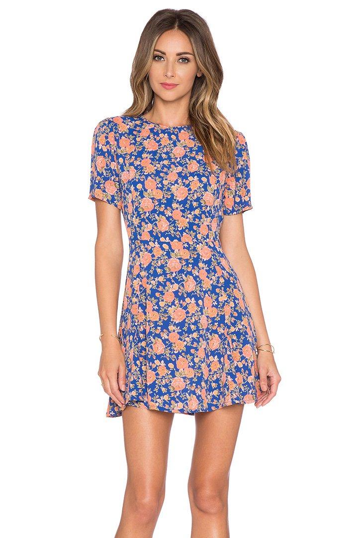 Vestido azul de flores de Tularosa