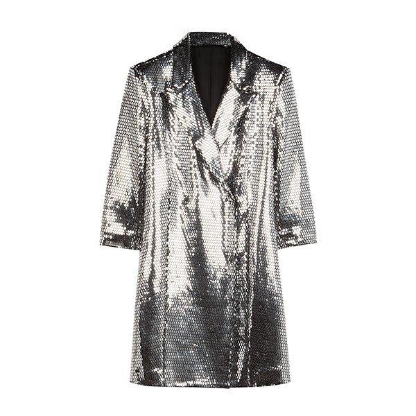 Vestido blazer en color plata de la colección Ready to glow de Bershka