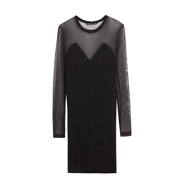 Little black dress de la colección Ready to glow de Bershka