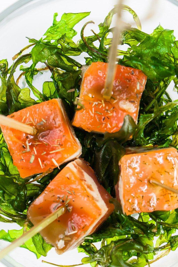Recetas de navidad milhojas de salmón