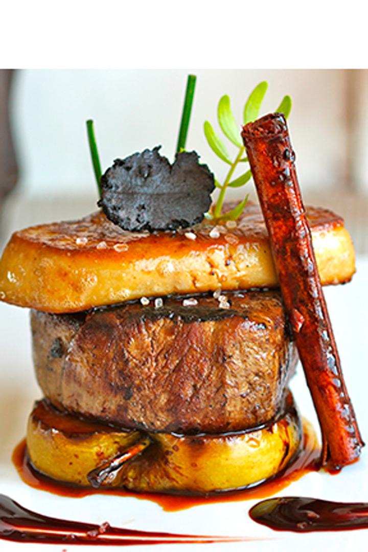 recetas de navidad solomillo con foie y manzana