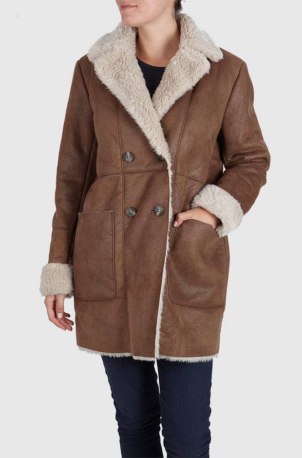 Abrigo marrón de Pepe Jeans