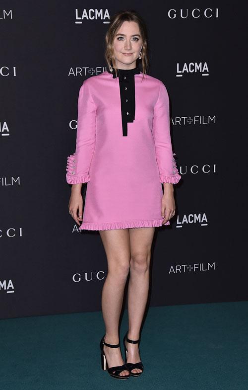 Saoirse-Ronan-el_estilo_de_vestido_rosa_art_film_2016